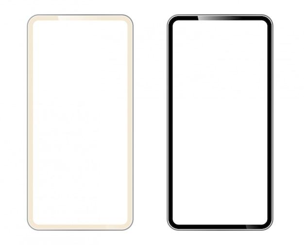 Smartfon kształt nowoczesnego telefonu komórkowego
