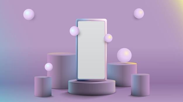 Smartfon na scenie do prezentacji produktów