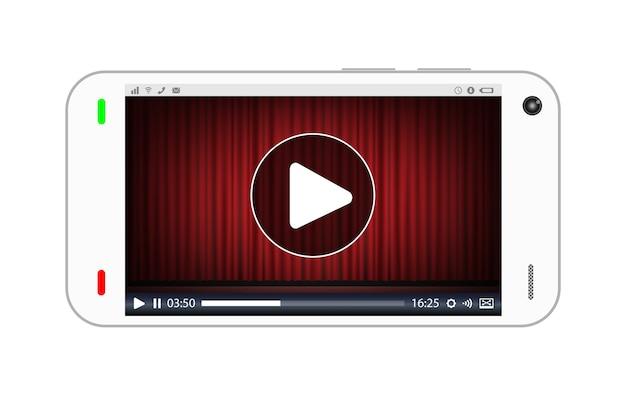 Smartfon odtwarzający wideo strumieniowe