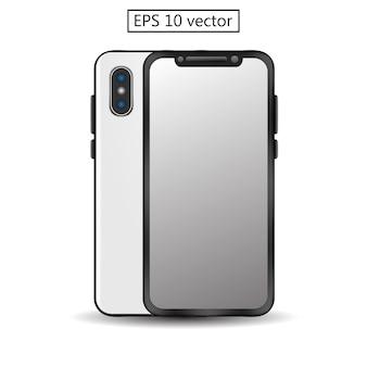 Smartphone czysty pusty szablon