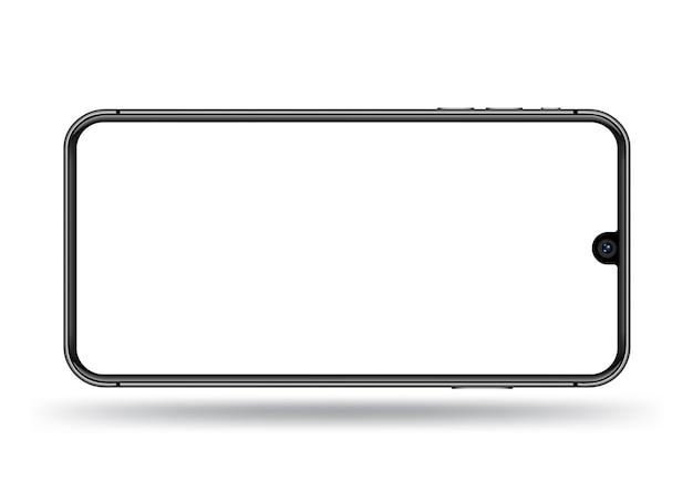 Smartphone przezroczysty ekran makieta