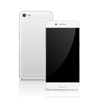 Smartphone, telefon komórkowy na białym tle.