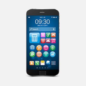Smartphone z ikonami aplikacji