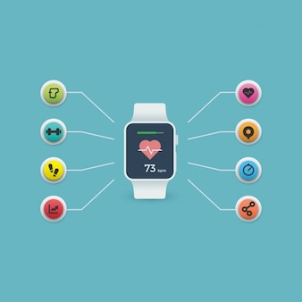 Smartwatch wzór tła