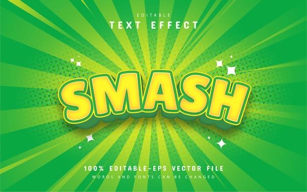 Smash efekt tekstowy kreskówki