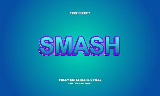 Smash efekt tekstowy