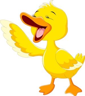 Śmiejąca się śliczna kaczka
