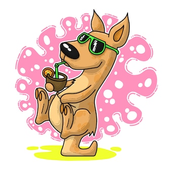 Śmieszna kreskówka kangur