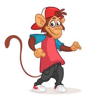 Śmieszna małpia kreskówki ilustracja
