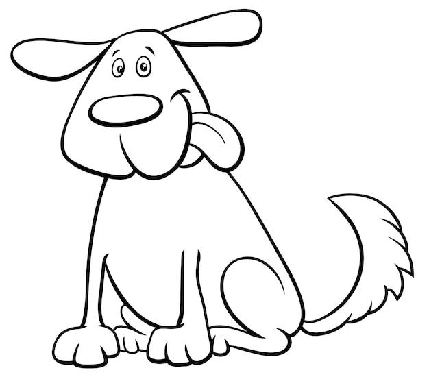 Śmieszna psia zwierzę domowe postać z kreskówki koloru książka