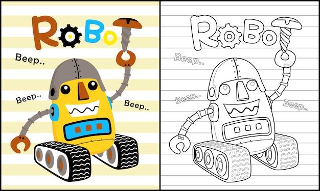 Śmieszna robot kreskówka