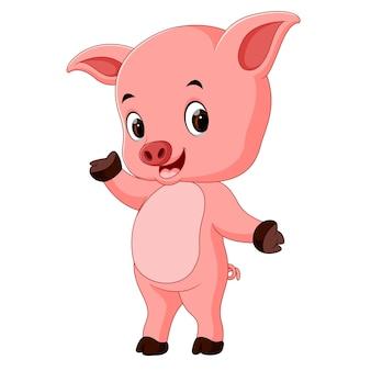 Śmieszna świniowata kreskówka