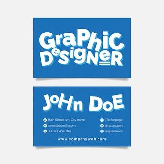 Śmieszna wizytówka projektanta graficznego