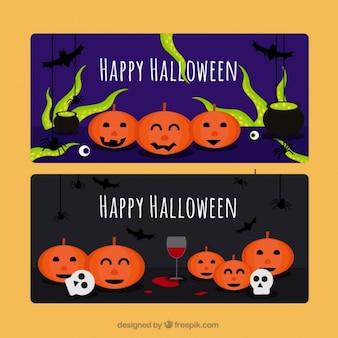 Śmieszne banery gotowe na halloween