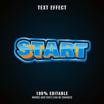 Śmieszne efekty tekstowe logo gry dla dzieci