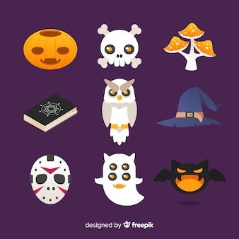 Śmieszne elementy halloween kolekcja