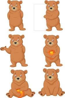 Śmieszne kreskówka niedźwiedź