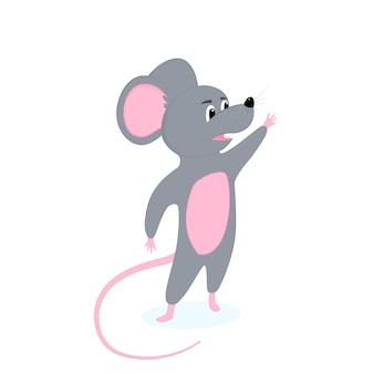 Śmieszne kreskówki szczura. symbol chińskiego nowego roku.