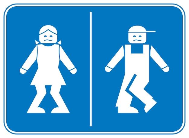Śmieszne symbole toalety wc