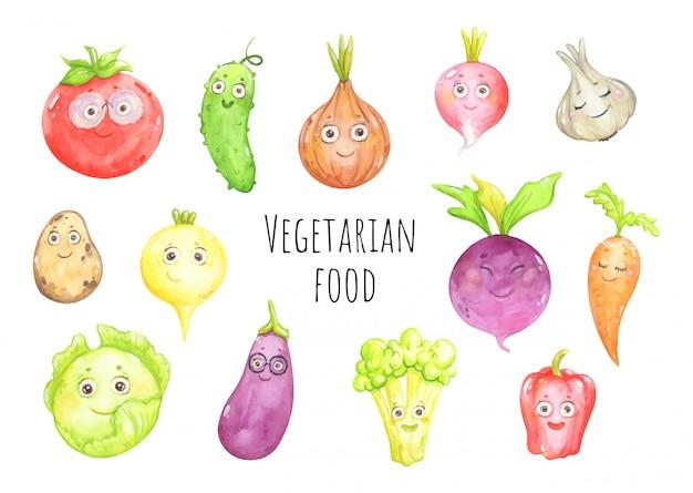 Śmieszne warzywa i świeże uprawy
