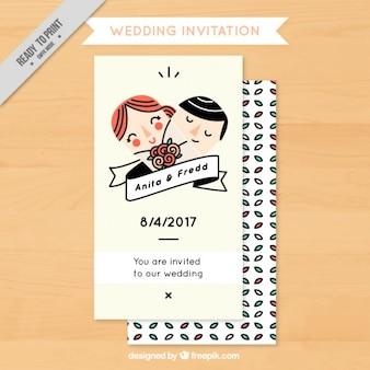 Śmieszne zaproszenie na ślub z para
