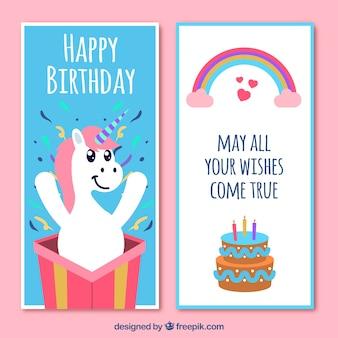 Śmieszne zaproszenie urodzinowe z jednorożca