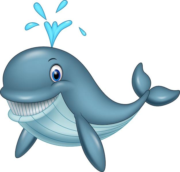 Śmieszny kreskówka wieloryb