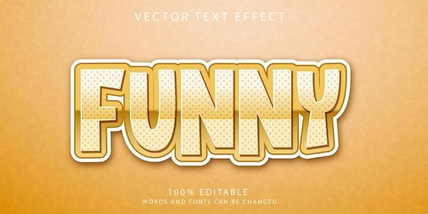 Śmieszny szablon stylu efektów tekstowych