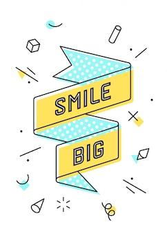 Smile big. vintage wstążka