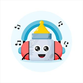 Smoczek dla dzieci maskotka zestawu słuchawkowego muzyki