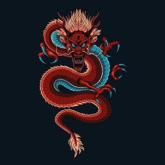 Smok chiński ilustracja