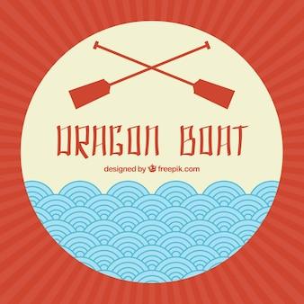 Smok łódź festiwal tle