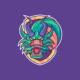 Smok logo maskotka