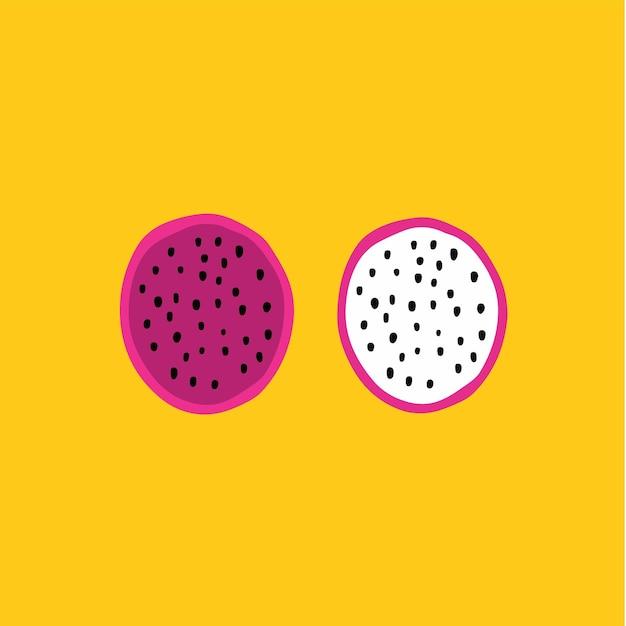 Smok owoc symbol media społecznościowe post owoc ilustracja wektorowa