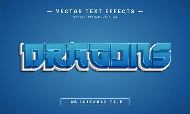 Smoki 3d edytowalny efekt tekstowy
