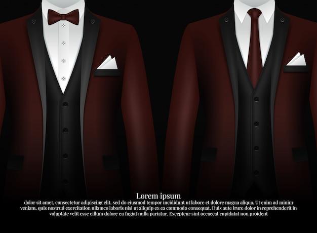 Smoking i łuk. stylowy garnitur.
