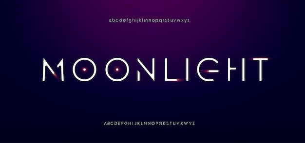 Smukły nowoczesny alfabet. abstrakcyjna miejska cienka czcionka typografia krój pisma wielkie i małe litery
