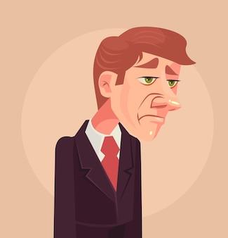 Smutny charakter człowieka pracownika biurowego