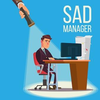 Smutny kierownik, biznesmen
