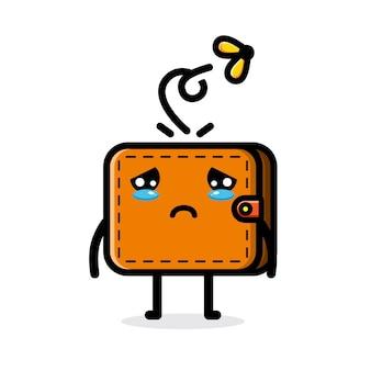 Smutny słodki portfel bez pieniędzy