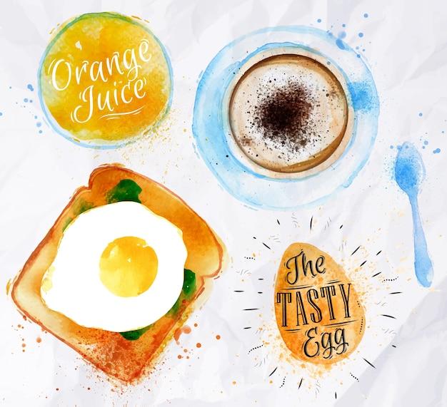 Śniadanie tosty z jajkiem