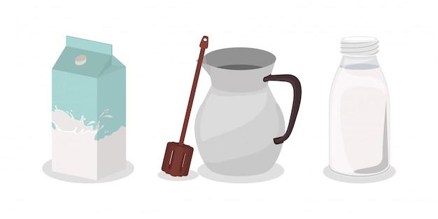 Śniadaniowy czekoladowy projekt, karmowego posiłku świeżego produktu naturalna targowa premia i kulinarna tematu wektoru ilustracja