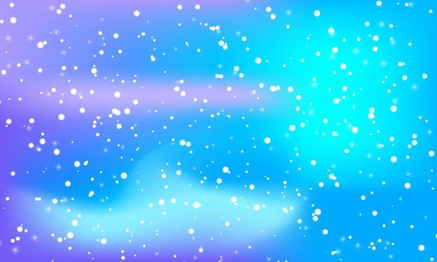 Śnieg tło. zimowe opady śniegu. białe płatki śniegu na gradientowym tle. spadający śnieg.