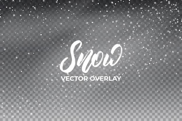 Śnieg w tle. realistyczna nakładka na śnieg.