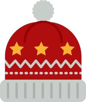 Śnieżna czapka ikona na stronie internetowej, dokument, projekt plakatu, drukowanie, aplikacja. boże narodzenie koncepcja stylu ikony
