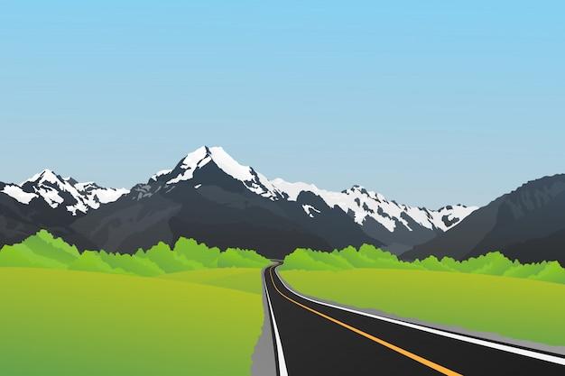 Śnieżna góra, góra cook, południowe alpy, nowa zelandia.