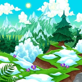 Śnieżny krajobraz