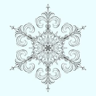 Śnieżynka na boże narodzenie i nowy rok
