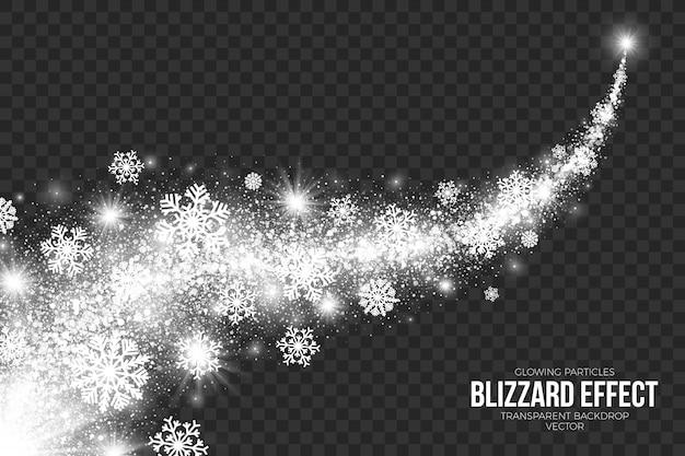 Snow blizzard effect na przezroczystym tle