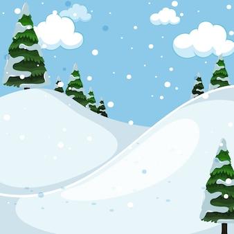 Snow mountain odkryty krajobraz